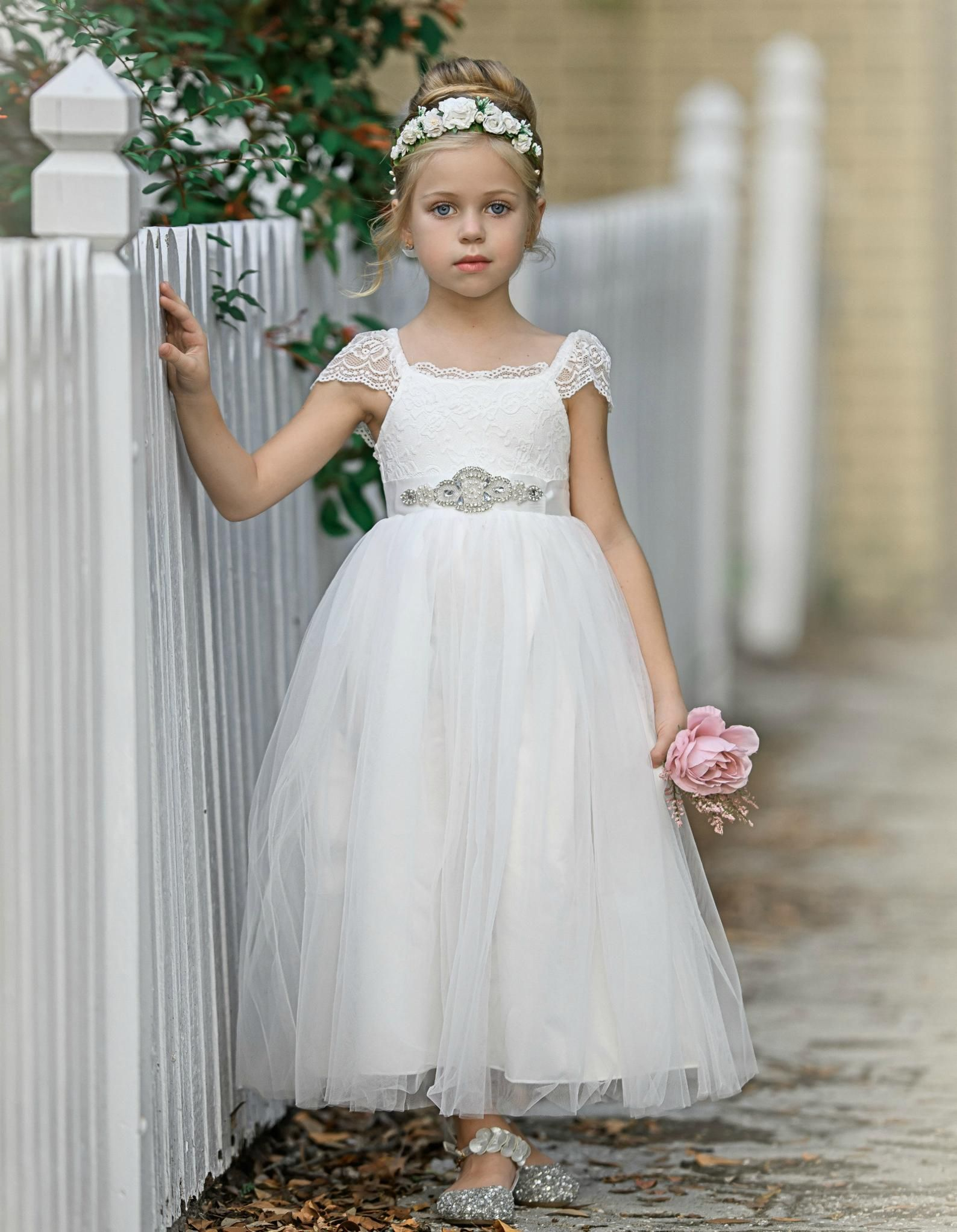 Flower Girl Dress Flower Girl Dresses Off White Lace Dress Etsy In 2021 Flower Girl Dresses Off White Lace Dress Baby Lace Dress [ 2044 x 1588 Pixel ]