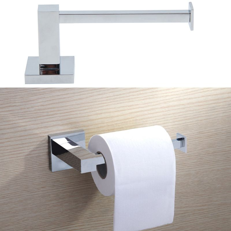 Toilet Tissue Roll Holder Papers Bathroom Wall Mounted Dispensers Stand Storage Toilet Roll Holder Chrome Wall Mounted Toilet Toilet Roll Holder