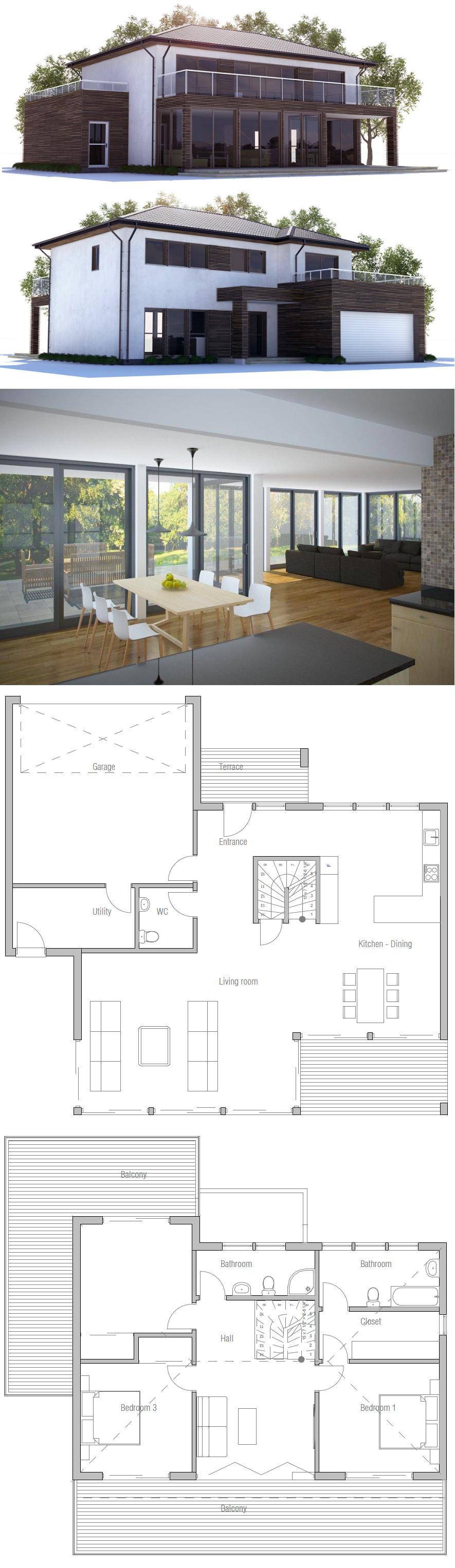 Moderne architektur grundrisse  Hausplan | Hauspläne | Pinterest | Haus architektur, Moderne ...