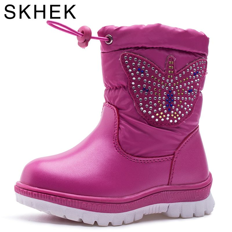 SKHEK Winter Girls Boots With Bow tie