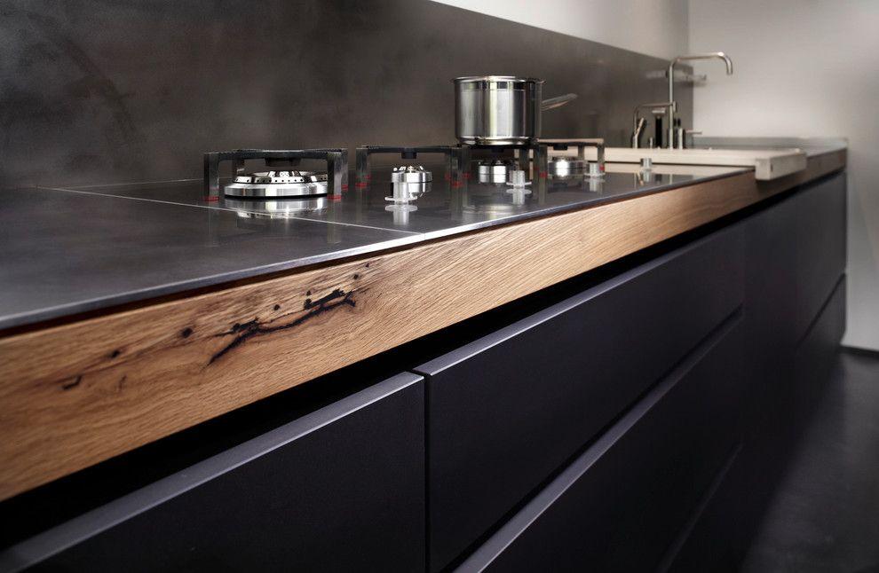 modulkche-edelstahl-im-industrial-kche-mit-industrial-next-to - küche mit edelstahl arbeitsplatte