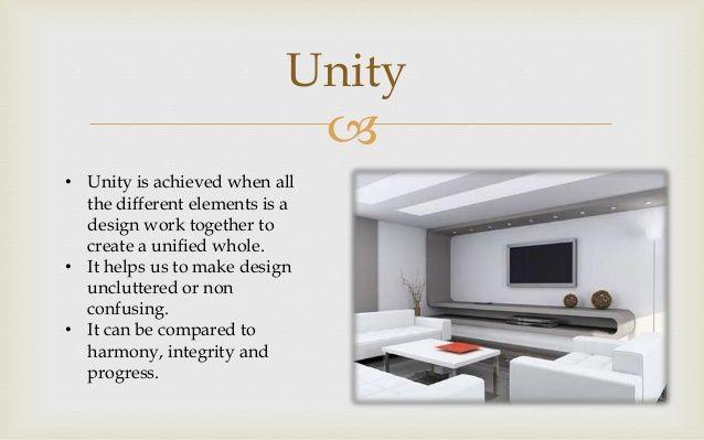 Unity Principle In Interior Design