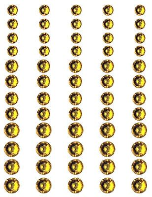 Queen & Co RHINESTONES-SUNFLOWER YELLOW 60 PCS 3 Sizes ALTERED ART Scrapbooking