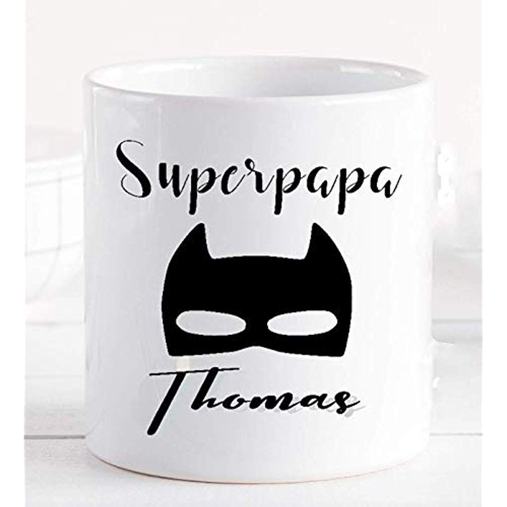 tasse papa superheld personalisiert mit namen  geschenk