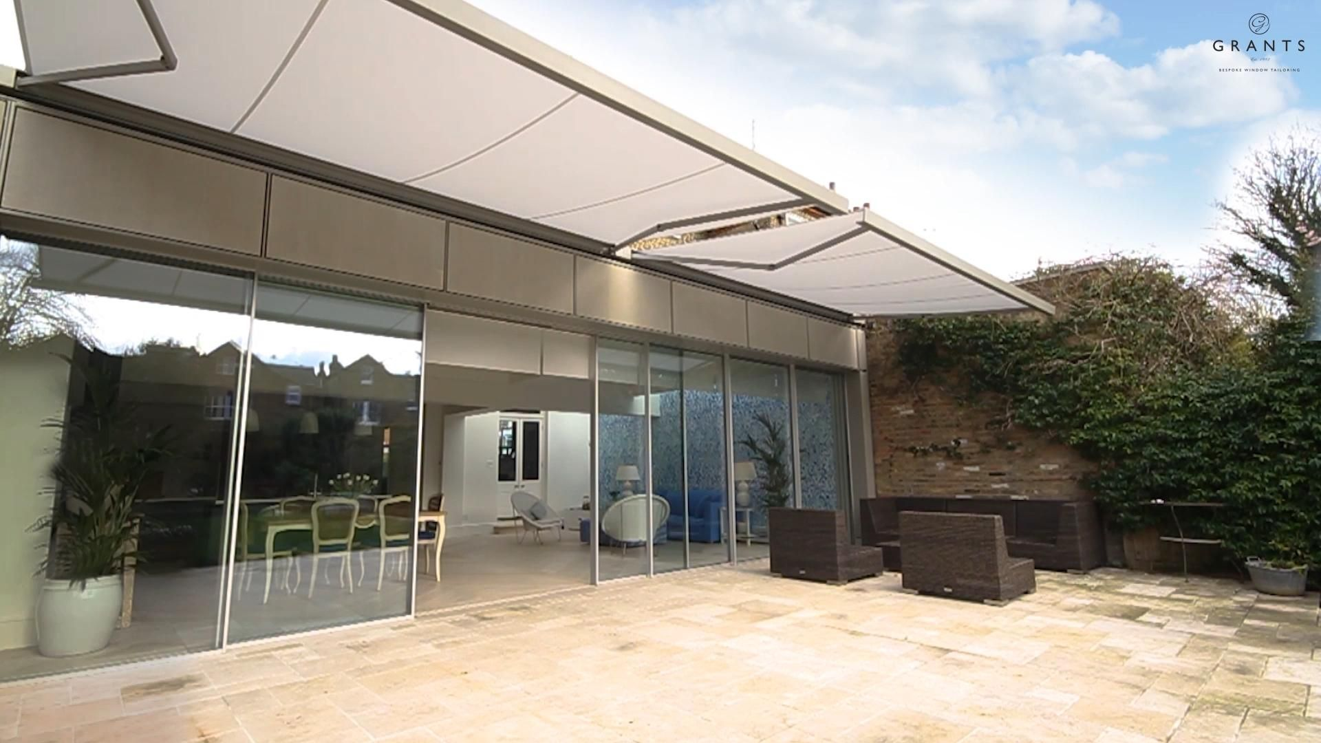 Motorized Patio Awnings Installation By Grants Blinds Video In 2020 Patio Awning Awning Installation Outdoor Living Patio