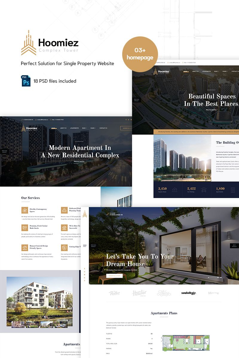Hoomiez Single Property Psd Template 90666 With Images Psd