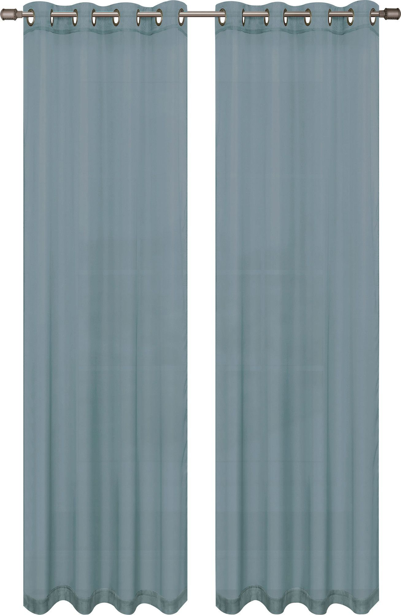 Gallimore Solid Sheer Grommet Curtain Panels Panel Curtains
