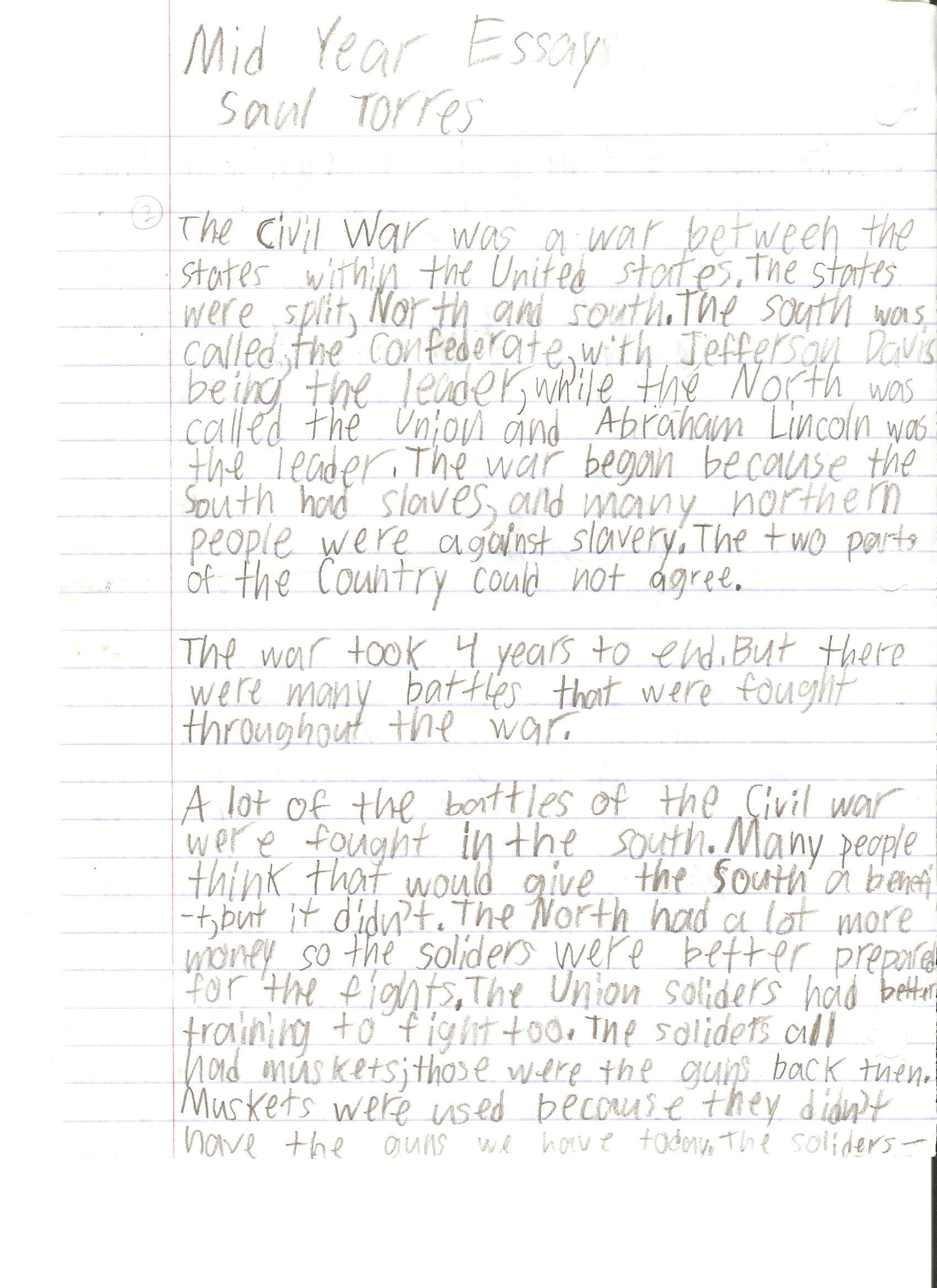 Expository Essay Samples 7th Grade Student Writing