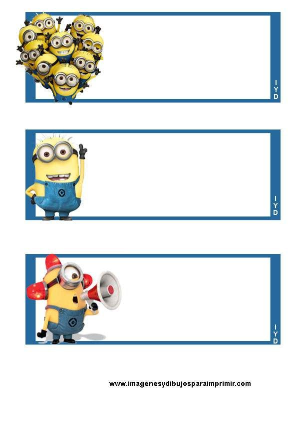 Etiquetas de minions para imprimir - Imagenes y dibujos para ...