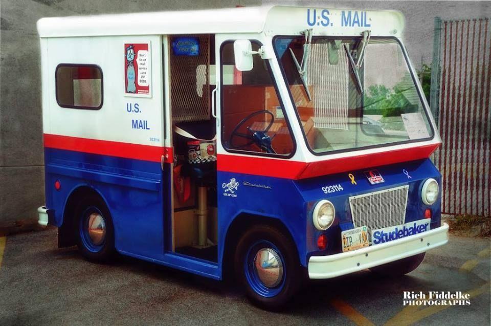 1963 Postal Zip Van Studebaker Trucks Hot Dog Cart Studebaker