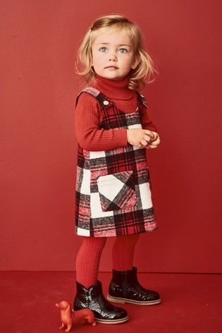 6a8a2275b Newborn Girls Older Girls Younger Girls Dresses. Red Check Pinafore And  Tights Set (3mths-6yrs) Red Check Skirt, Buy