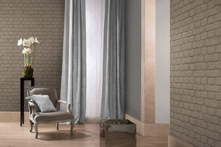 papier peint brique taupe pas cher papiers peints brique pierres papier peint pinterest. Black Bedroom Furniture Sets. Home Design Ideas