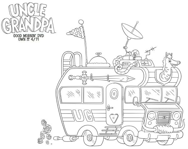 uncle grandpa free printable coloring sheet