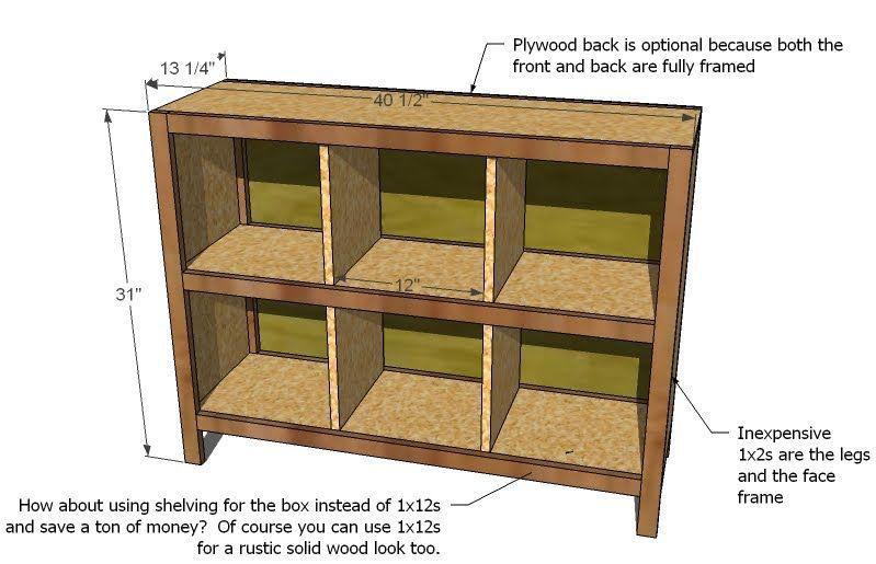 Ana White Build A 6 Cube Bookshelf Free And Easy Diy