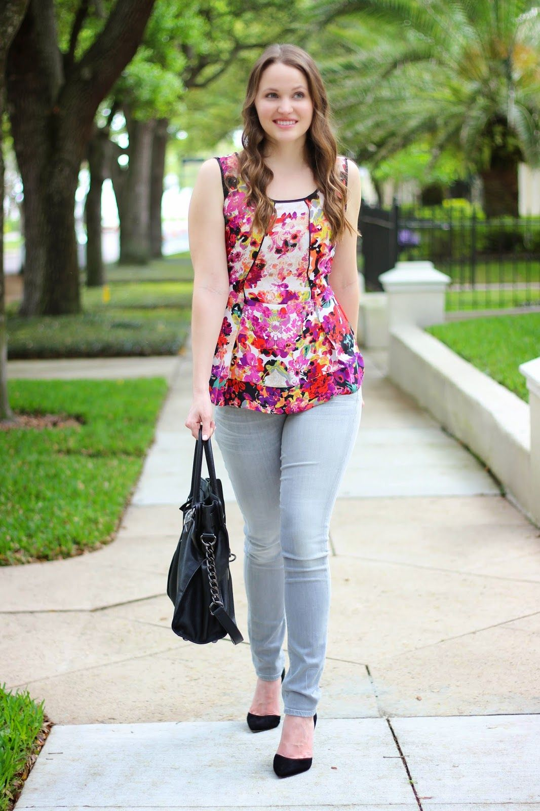 Shoes for light pink dress  Kelly Elizabeth Style Bright Floral Tank  floral tank NicZoe