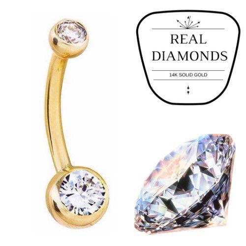 Genuine Diamond Navel Rings