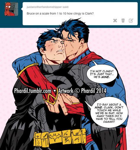 phardil: Someone's blushing  Clark is also quite possessive