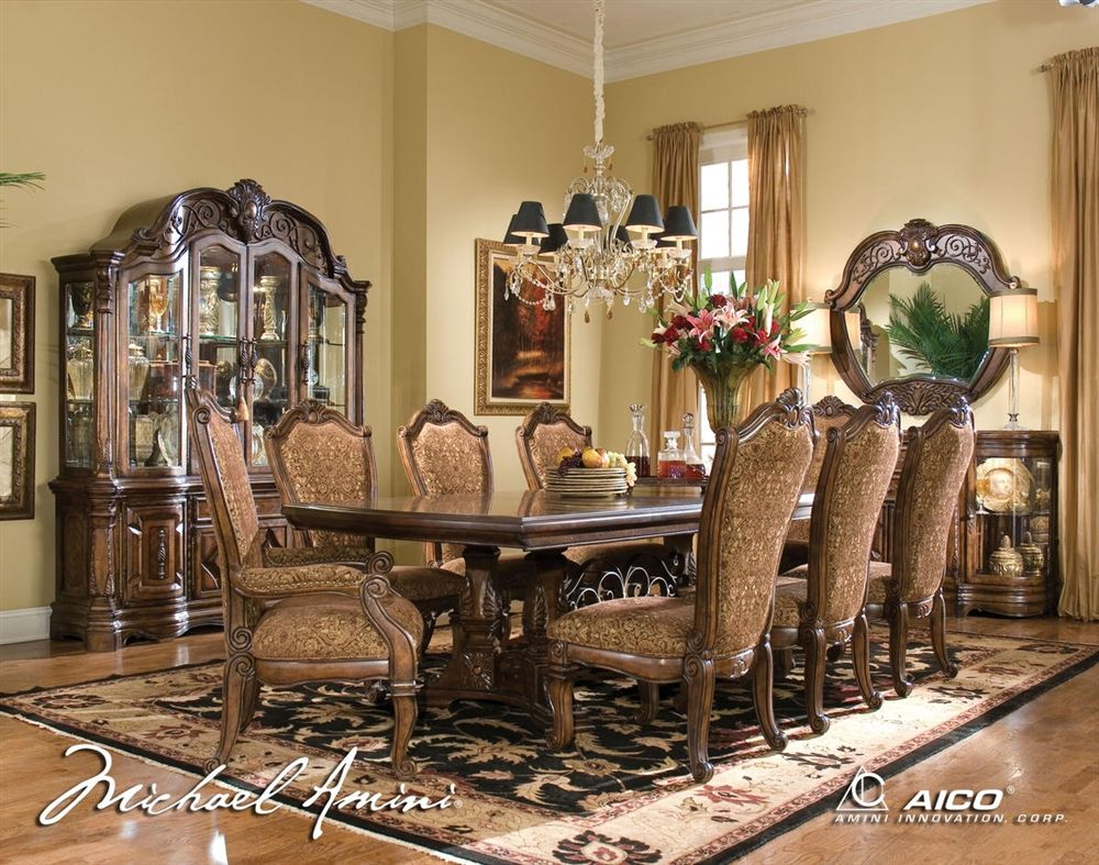 Michael Amini Furniture Dining Room Images Aico Dining Room Dining Table Setting