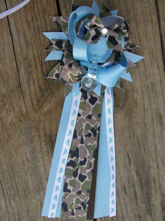 camo baby shower corsagearmy baby mum by bonbow on etsy