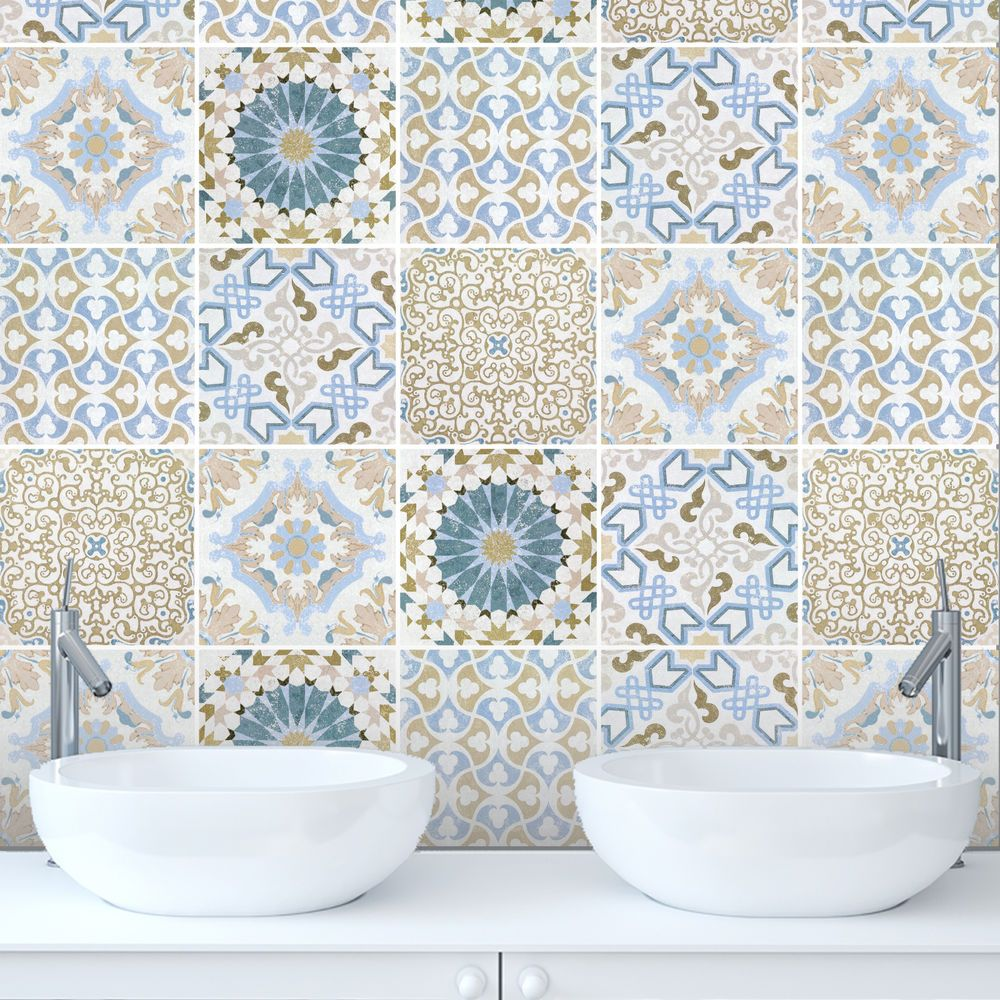 Tile Stickers Transfers Traditional Vintage Kitchen Custom Sizes ...