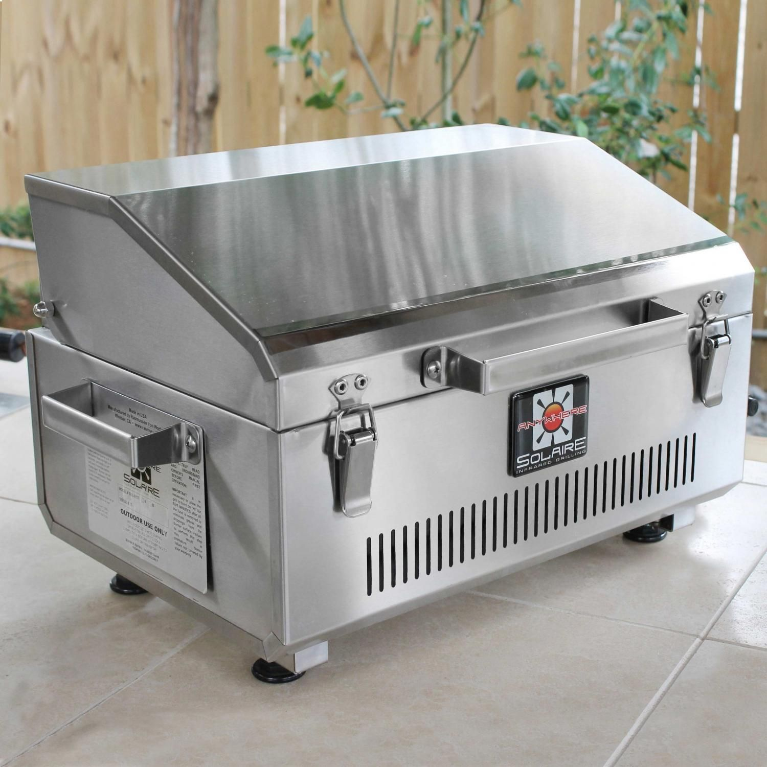 Solaire Anywhere 304 Grade Stainless Steel Portable Infrared Propane Gas  Grill   SOL IR17B