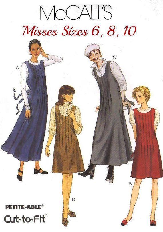 90s MISSES\' and PETITE\'S JUMPER Sewing Pattern by KeepsakesStudio ...