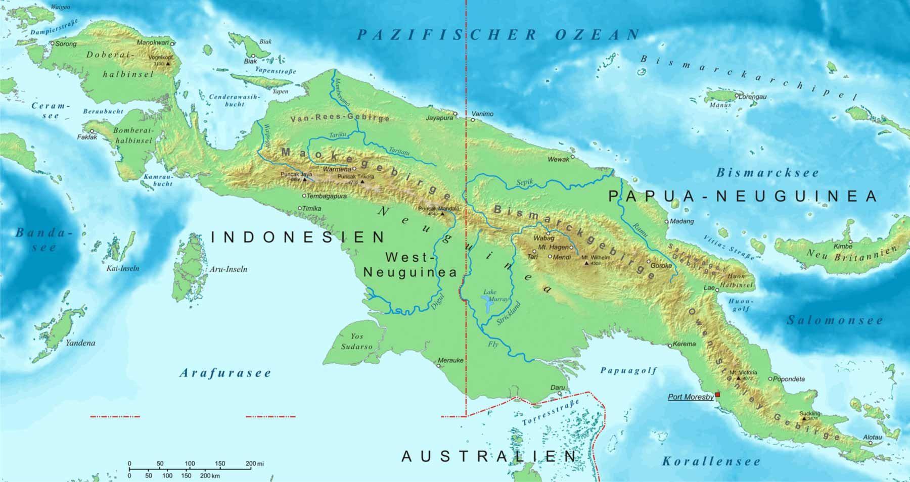 Pin op Irian Jaya