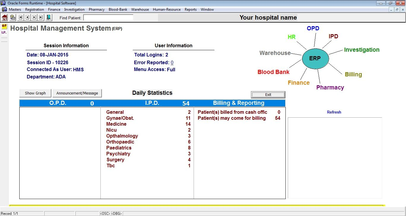 Hospital Opd And Ipd Project Oracle Forms Based Coding Tutorials