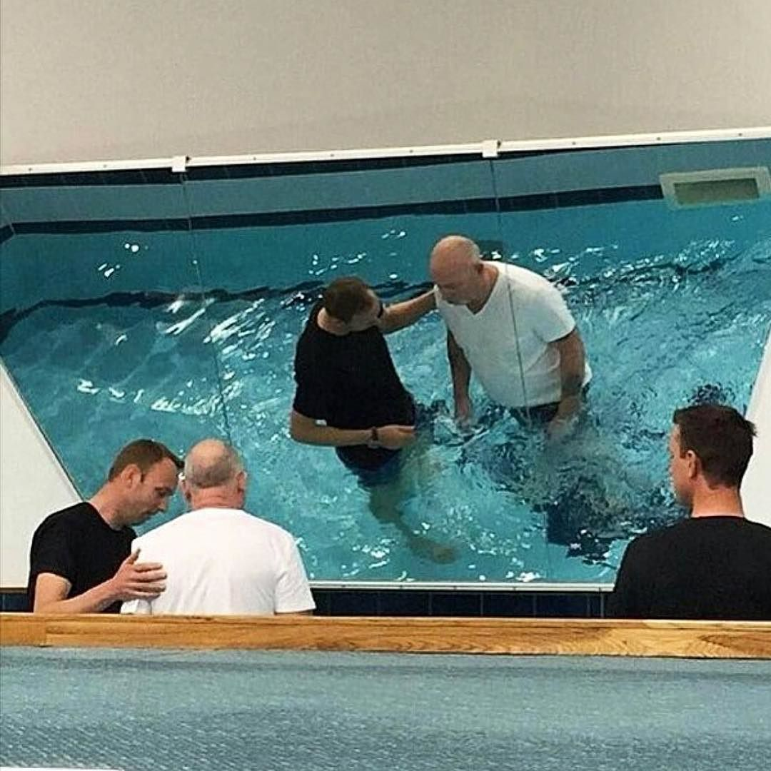This is my Dad getting baptised on the weekend at the Bristol Assembly Hall UK My parents have been married 39 years and my lovely mum has waited all that time for the day he would get baptised. Through her conduct and the example set by all his grandchildren he finally did it. Were so grateful to Jehovah for blessing our family. Photo shared by @k3llydavies