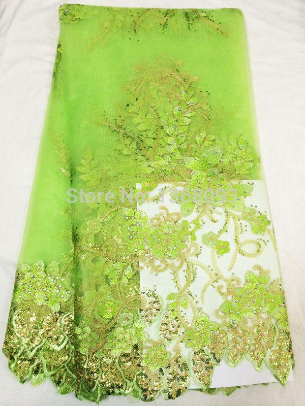 pale green fabric | 2014-Newest-Flowers-Design-Organza-Lace-Jacquard-Rhinestones-Fabric ...