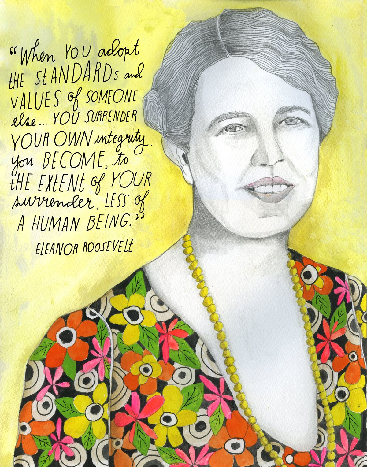 The longest-serving American First Lady, Eleanor Roosevelt (October 11, 1884—