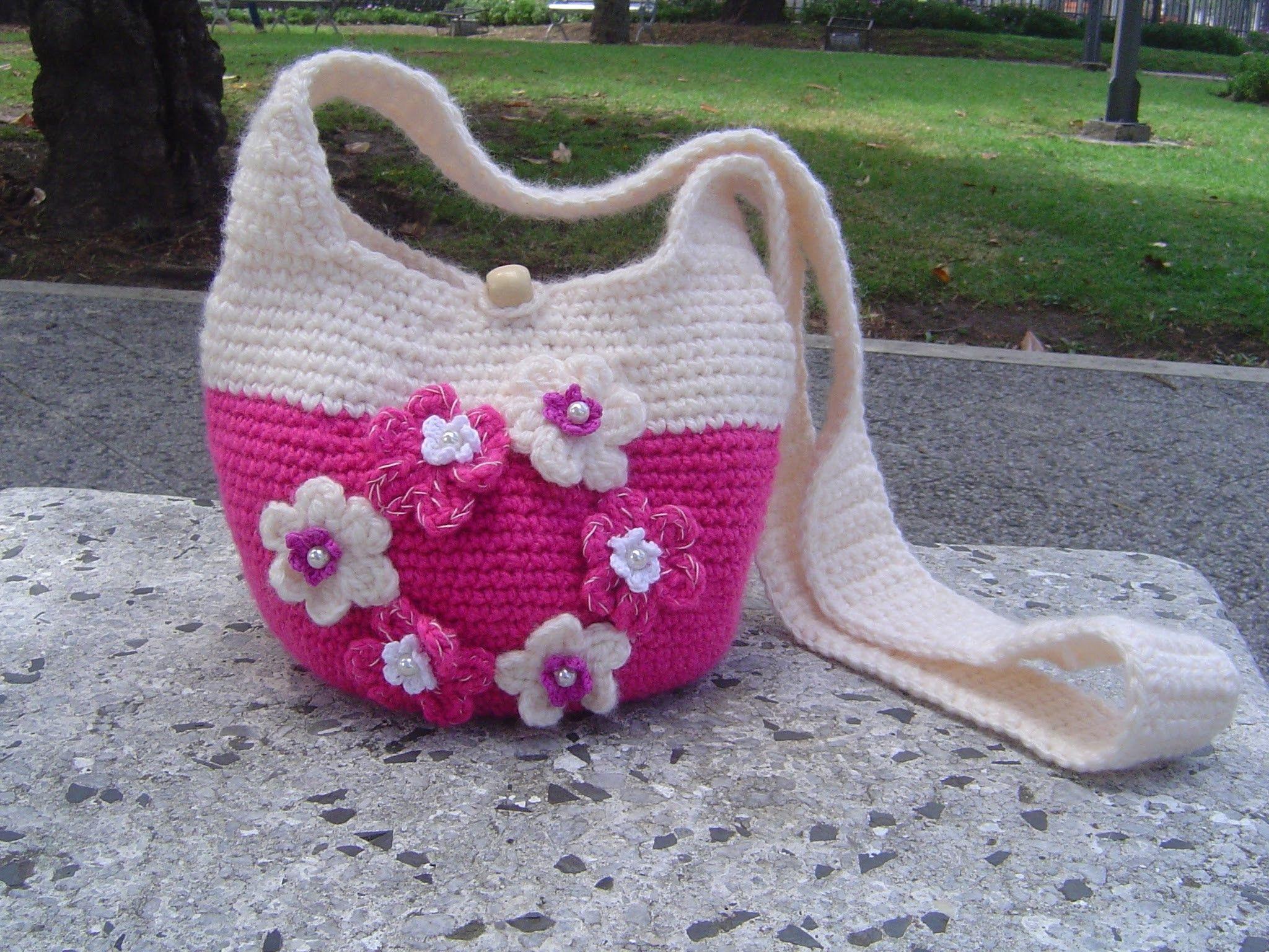 Como hacer Bolso tejido a crochet paso a paso parte 2.2 | Bolsas ...