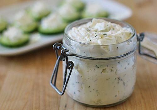 "Homemade ""Boursin"" Garlic and Herb Cheese"