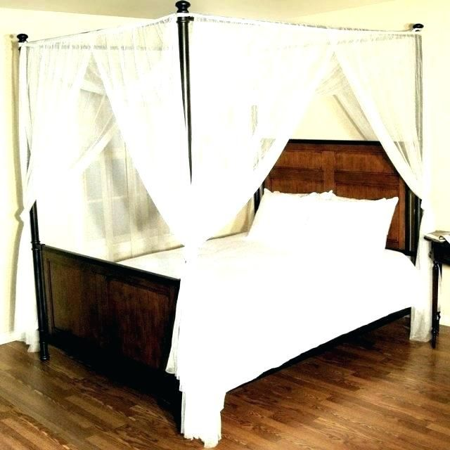 Queen Size Canopy Bed With Curtains in 2020 | Queen size ...