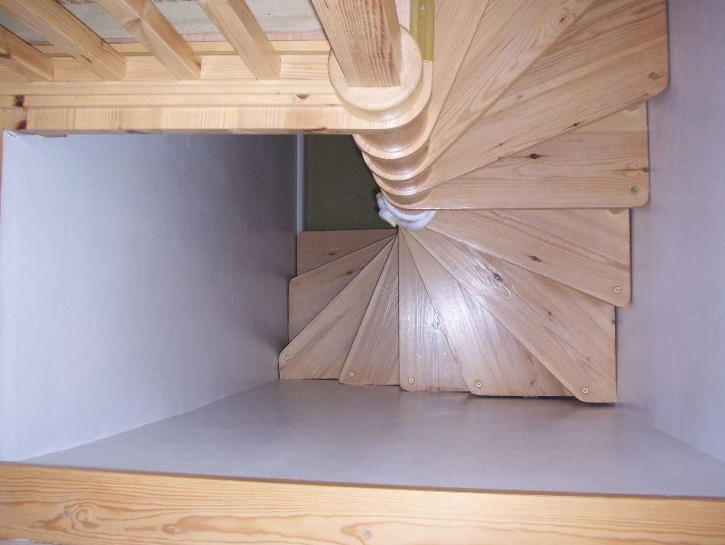 Timber Spiral Stairs Attic Designs Loft Stairs Attic   Spiral Staircase To Attic   Diy   Basement   Remodeling   Creative   Small