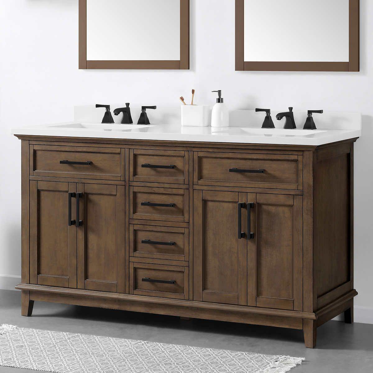 Ove Decors Dylan 60 Bath Vanity Double Vanity Bathroom Bathroom Vanity Bathroom Sink Vanity