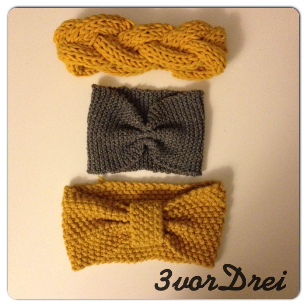 herbstt ne und frisurenretter stirnb nder stricken f r anf nger knitting crocheting. Black Bedroom Furniture Sets. Home Design Ideas