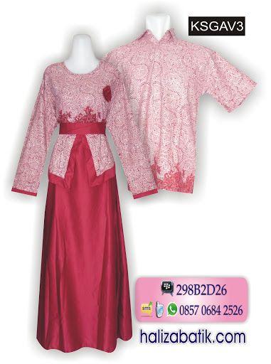 Koleksi Terbaru Haliza Batik Sarimbit Gamis Batik Bahan