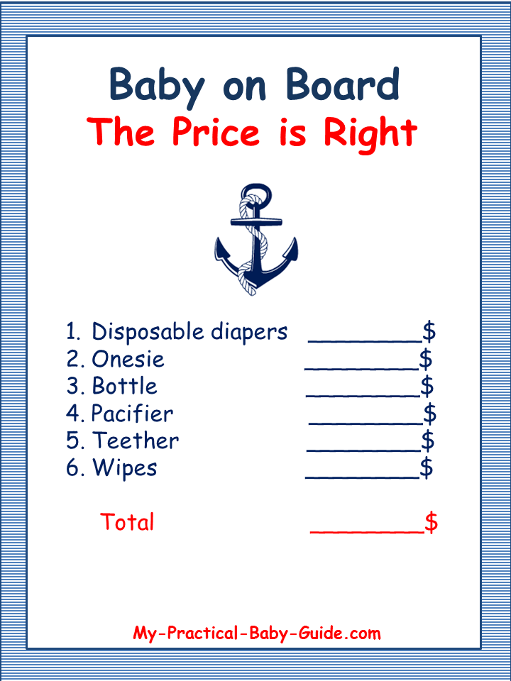 Nautical Baby Shower Theme Ideas My Practical Baby Shower Guide In