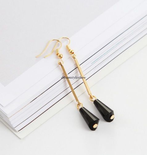 Fashion-Korean-Women-Hook-Crystal-Water-Drop-Dangle-Long-Earrings-Jewelry-Gift