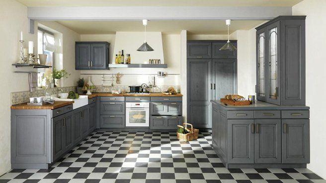 Idée décoration et relooking cuisine Tendance Image Description bleu