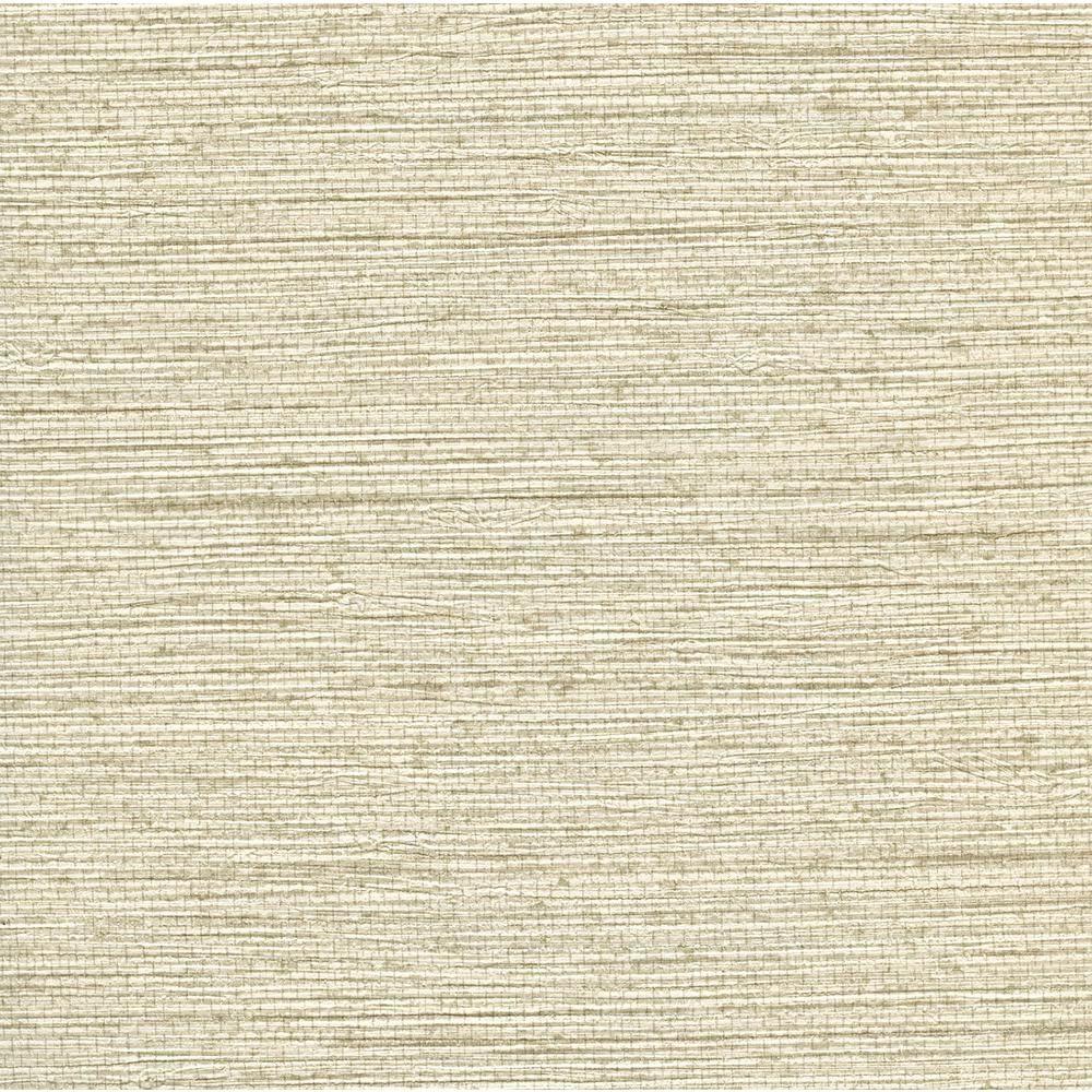Warner 8 in. x 10 in. Bali OffWhite Seagrass Wallpaper