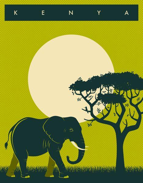 Kenya Travel Poster Art Print