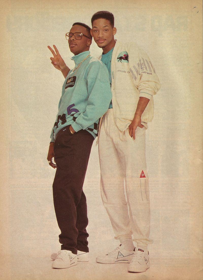 Jazzy Jeff & Will Smith Rockin' Le Coq Sport   90s fashion ...