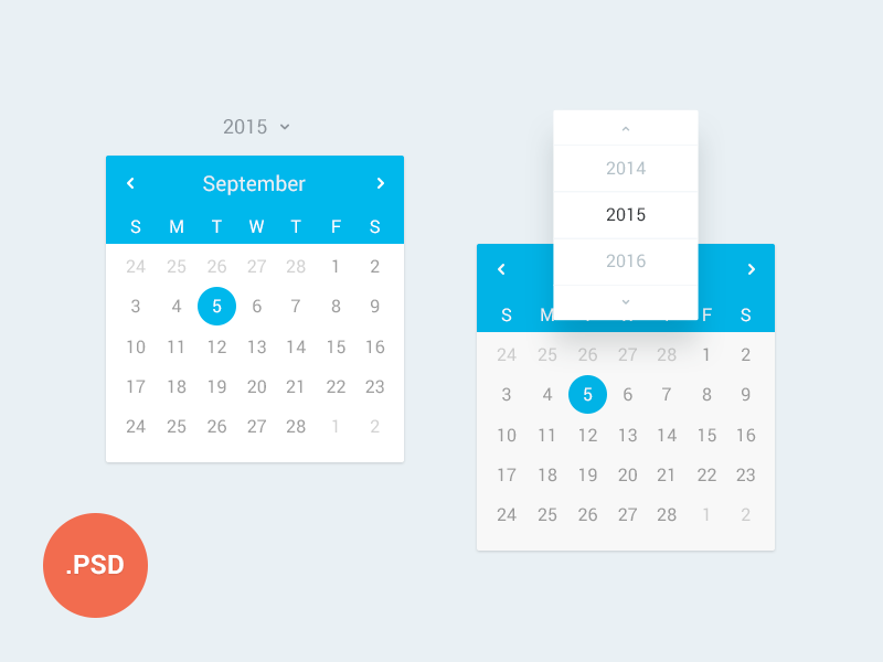 Here is an amazing flat website design calendar free to download ...