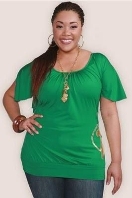 Blusas verdes para gorditas 3