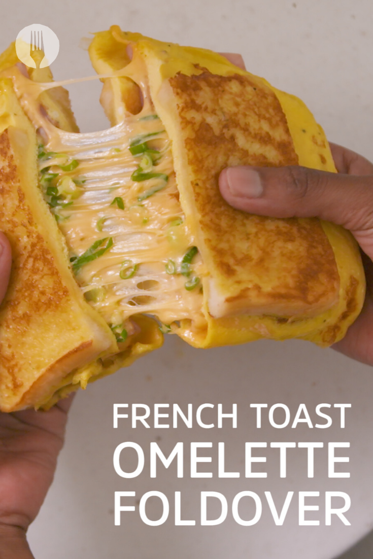 French Toast Omelette Foldover