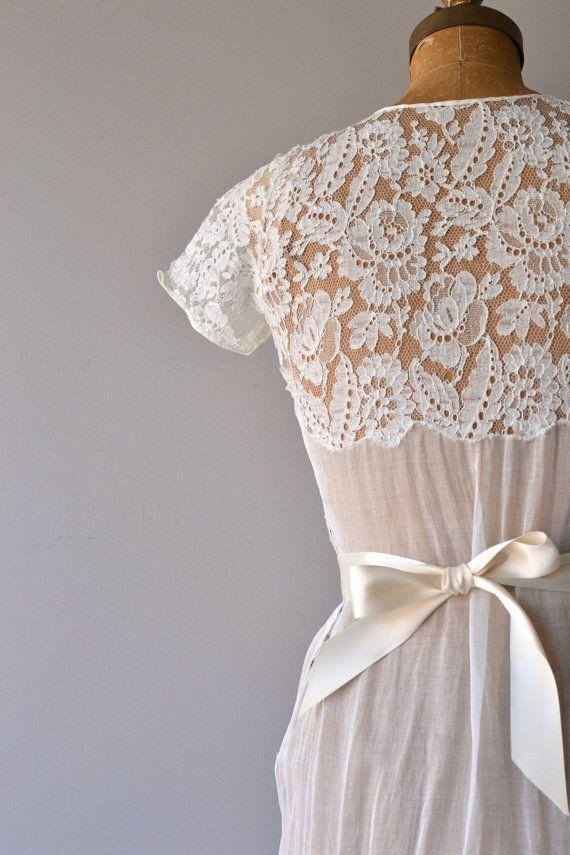 Lyall wedding gown | 1930s wedding dress | lace 30s wedding dress