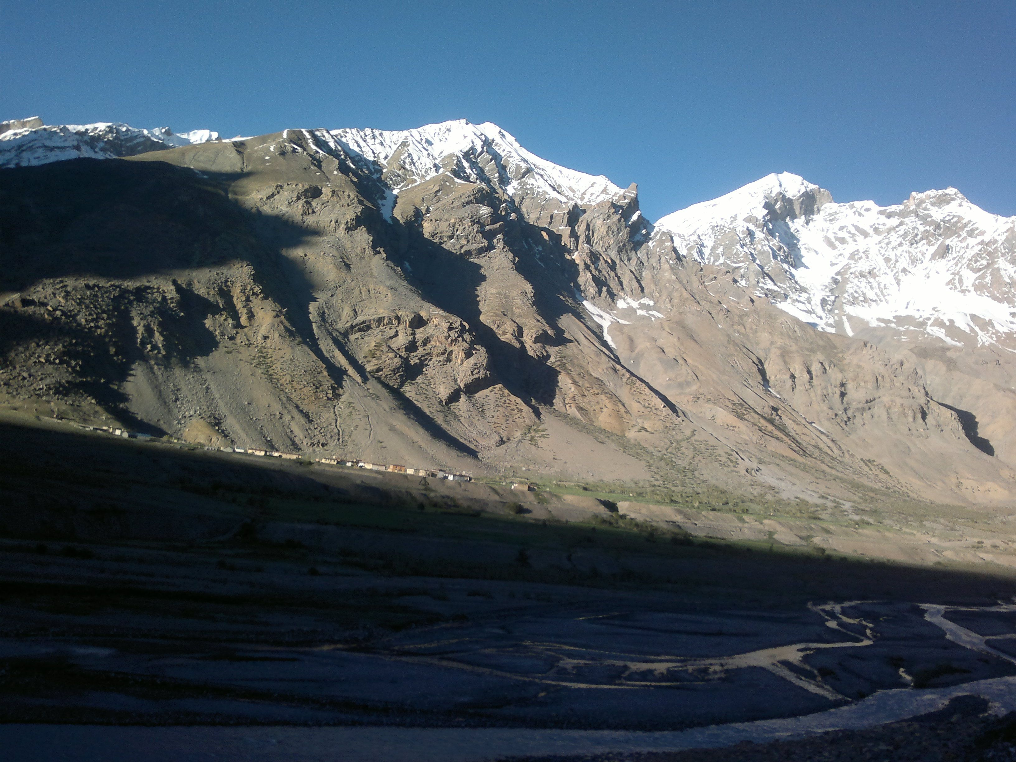 Kaza The Cold Desert Region Of India At An Altitude Of 14000 Ft