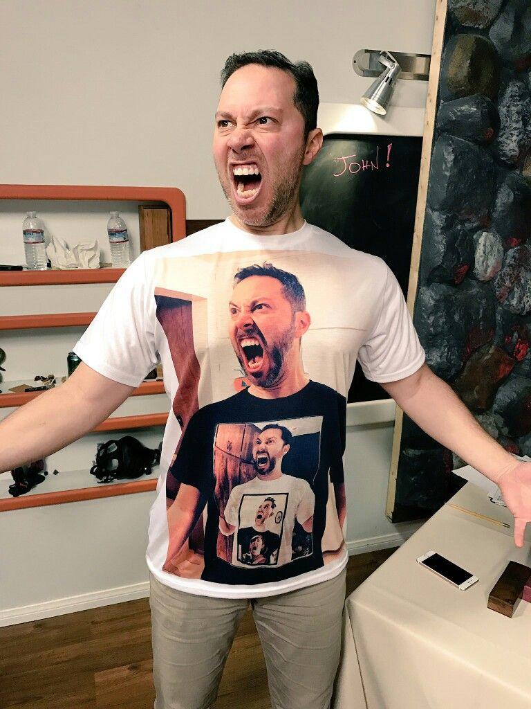 I don't know who this guy is, but he's got a nice shirt  | Weird